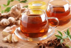 Tee aus Ingwer