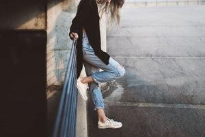 Schuhe lässig tragen