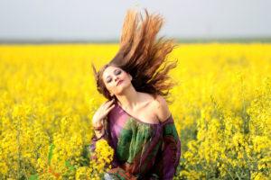 gesunde methoden um das haar lufttrocknen zu lassen