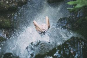 Duschen und Bade in der Natur