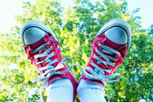 Socken und Schuhe kombinieren