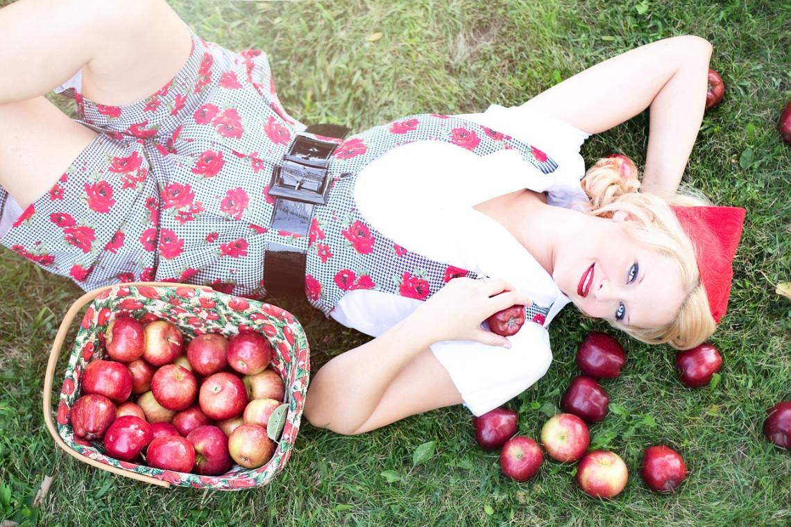 Frucht Apfel 50er Jahre