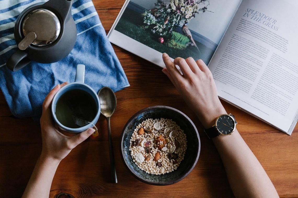 gesunde tägliche Ernährung