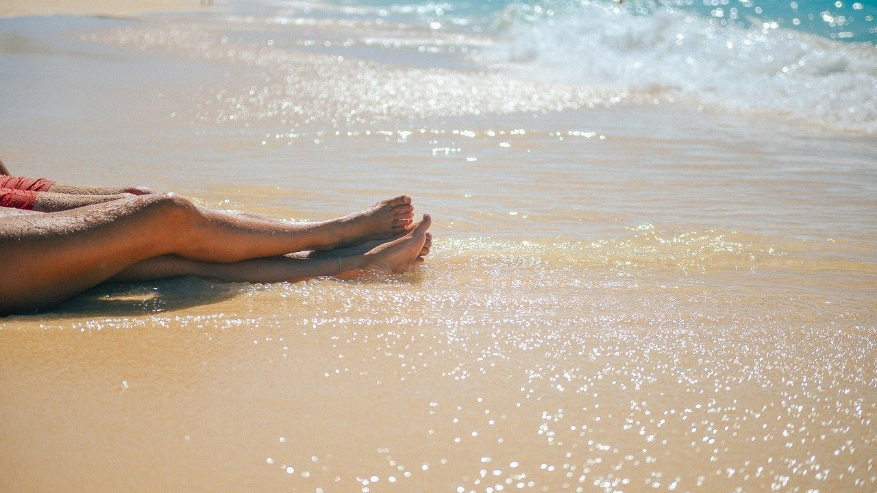 glatte Beine durch rasieren