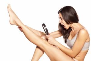 Rasur glatte Beine
